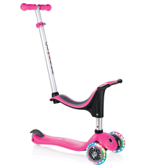 GLOBBER - Evo 4-in-1 Scooter with Lights - Pink (452-110-3)