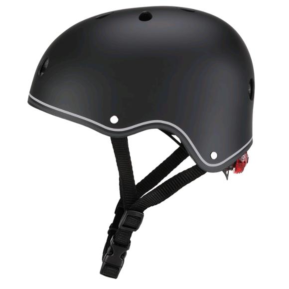 GLOBBER - Hjelm med Lys (48-53 cm) - Sort