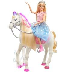 Barbie - Princess Adventure - Moderne Prinsesse Prance & Shimmer Hest (GML79)