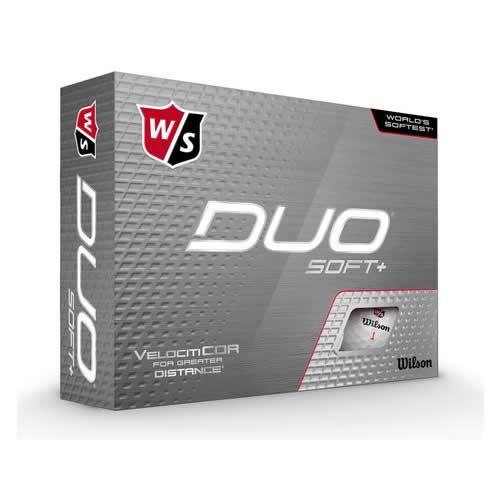 Wilson - Duo Soft+ White 12pack Golf Balls