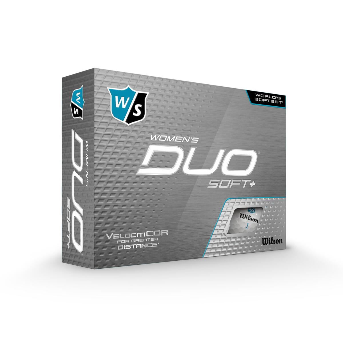 Wilson - Duo Soft+ White - 12pack - Kvinde Golfbolde