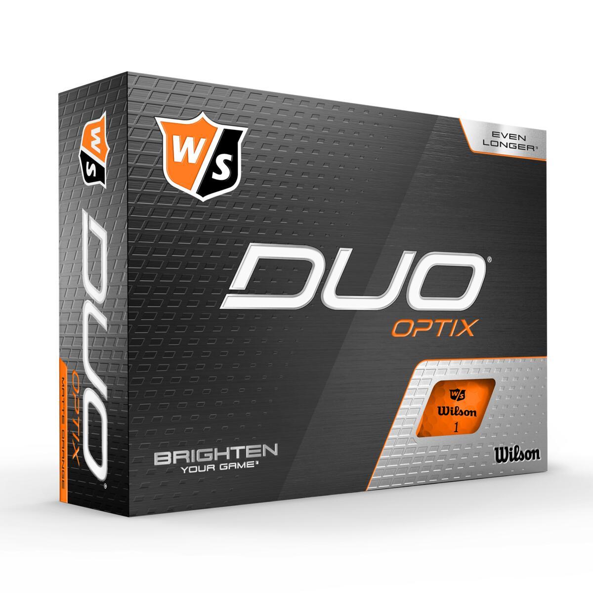 Wilson - Duo OPTIX Orange 12pack Golf Balls