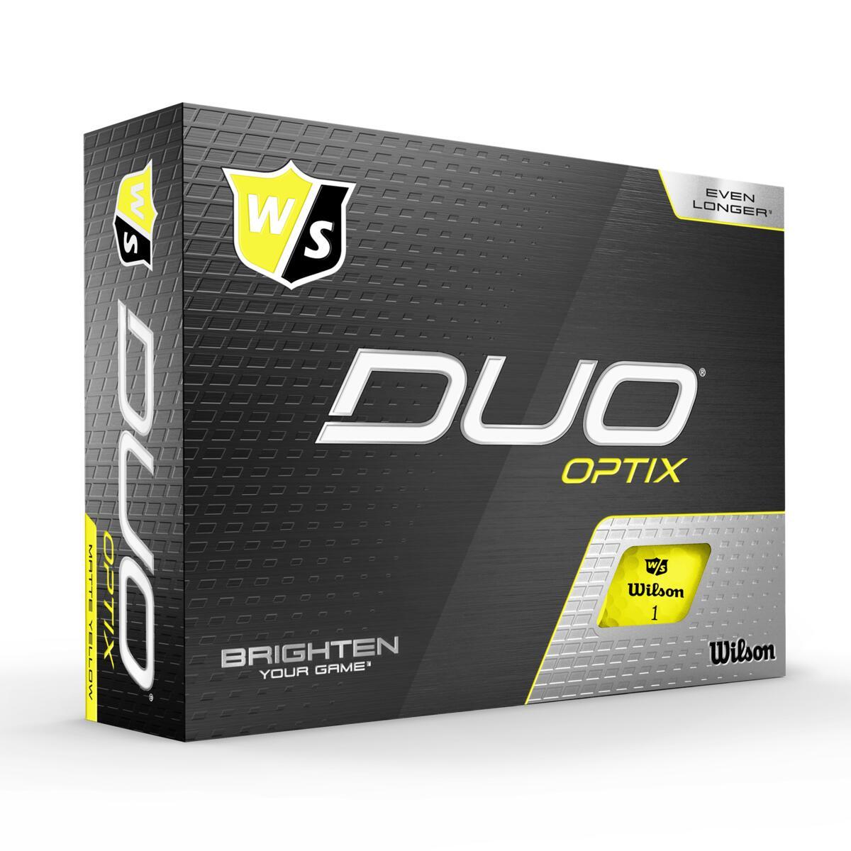 Wilson - Duo OPTIC Gule 12pack Golfbolde