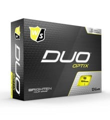 Wilson - Duo OPTIX Yellow 12pack Golf Balls