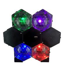 Højtaler med 4-Farvet Disco Lys