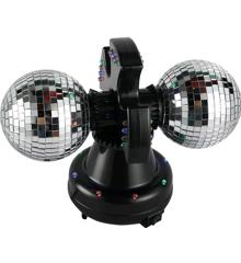Dobbelt Spejlkugle med LED