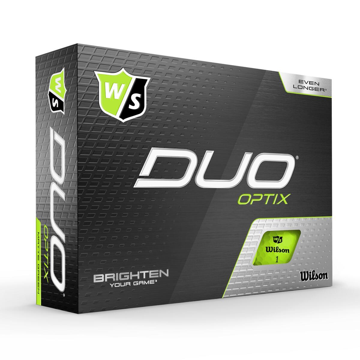 Wilson - Duo OPTIC Green 12pack Golfbolde