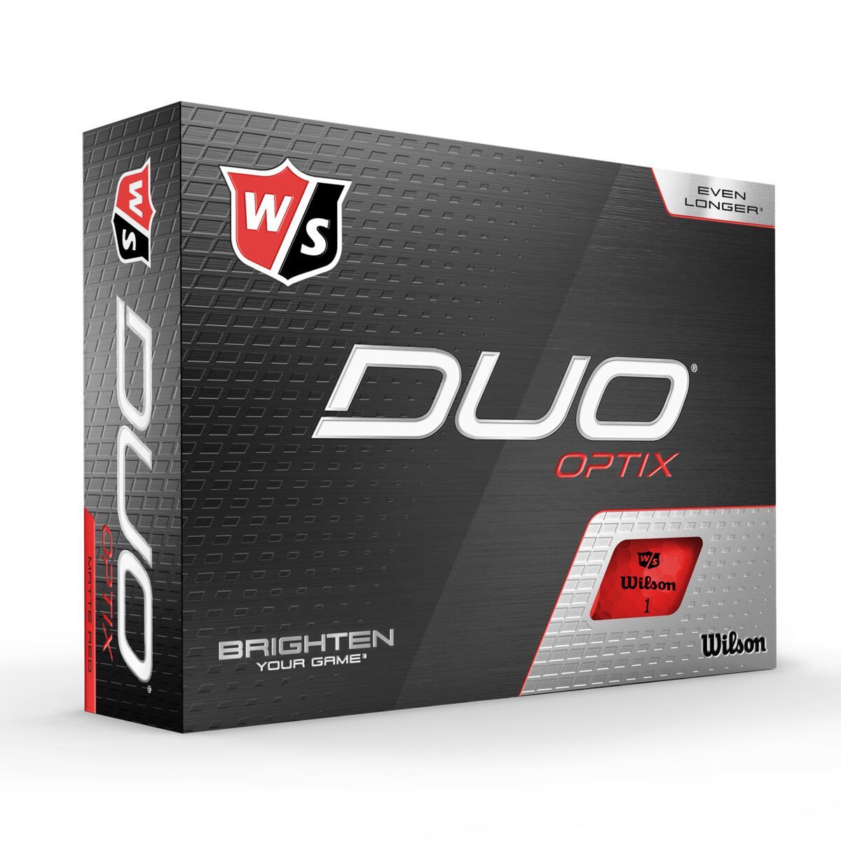 Wilson - Duo OPTIC Røde 12pack Golfbolde