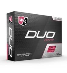 Wilson - Duo OPTIX Pink 12pack Golf Balls
