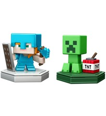 Minecraft - Boost Mini Figurer 2-Pakke - Villager & Kanin(GKT43)