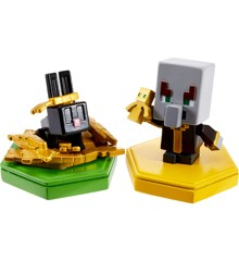 Minecraft - Boost Mini Figure 2-Pack - Undying Evoker & Snacking Rabbit (GKT44)
