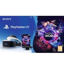 Playstation VR V2 + Camera V2 + VR Worlds (Voucher) (Nordic)