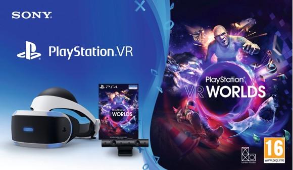 Playstation VR V2 MK5 + Camera V2 + VR Worlds (Voucher) (Nordic)