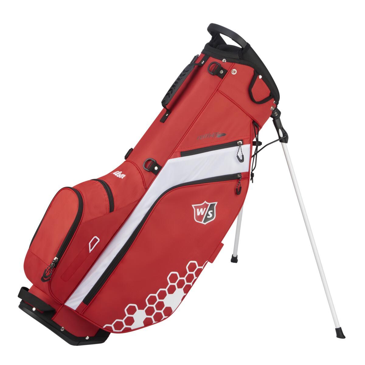 Wilson - W/S FEATHER Golf Bag BLBLGY RDWHWH