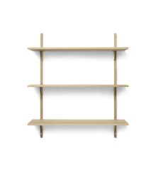 Ferm Living - Sector Shelf L/L - Natural Oak/Brass (1103472852)