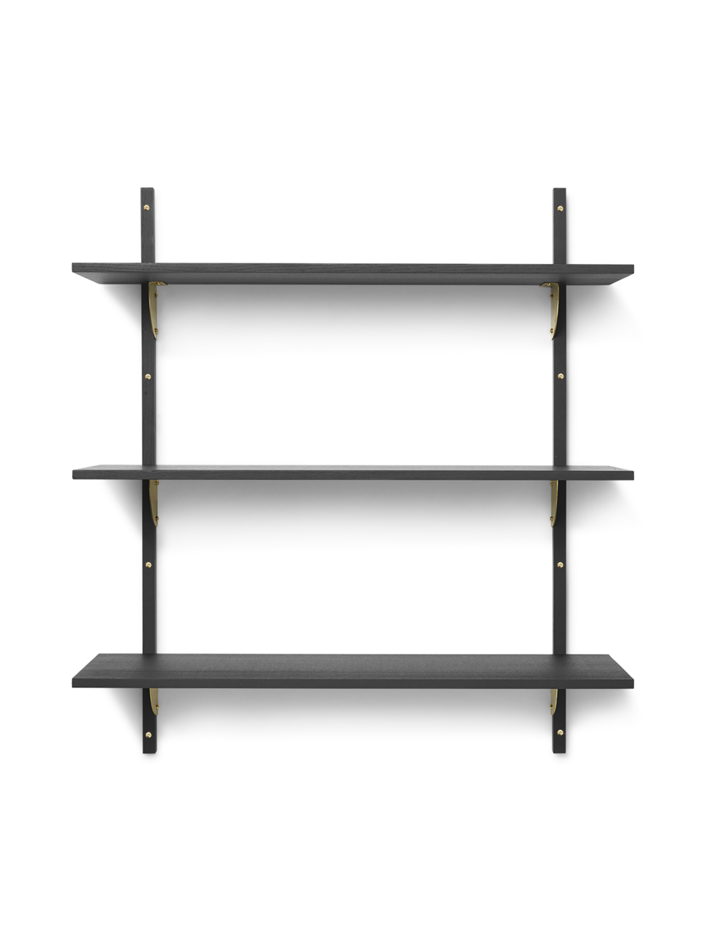 Ferm Living - Sector Shelf L/L - Dark Stained Ash/Brass (1103492860)