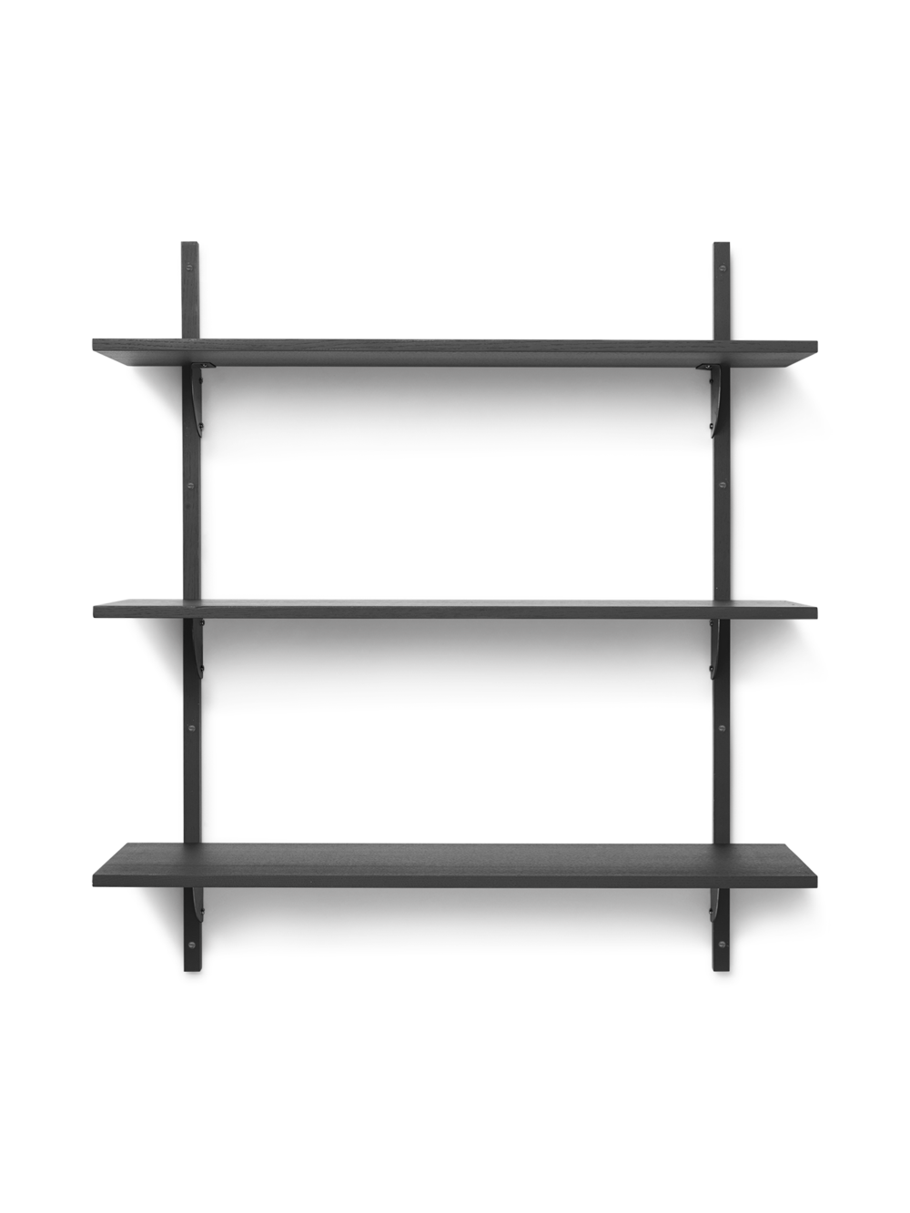 Ferm Living - Sector Shelf L/L - Dark Stained Ash/Black Brass (1103502858)