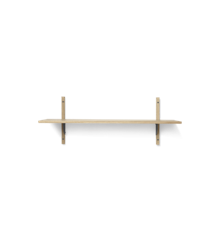 Ferm Living - Sector Shelf L/S - Natural Oak/Black Brass (1103442859)