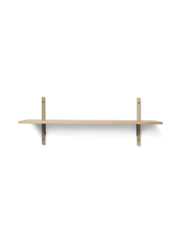 Ferm Living - Sector Shelf L/S - Natural Oak/Black Brass (1103442859)