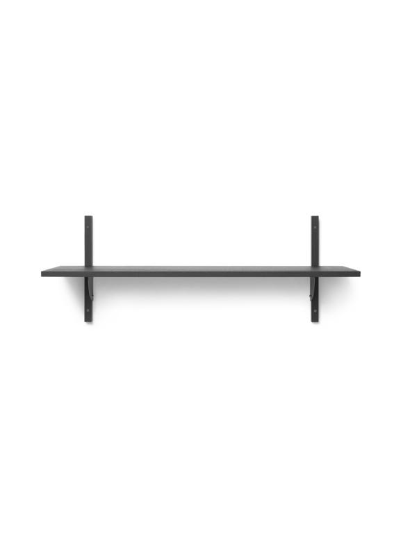 Ferm Living - Sector Shelf L/S - Dark Stained Ash/Black Brass (1103462858)