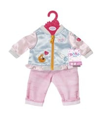 Baby Born - Casual Clothing Set - Jeans & Jacket - Blue