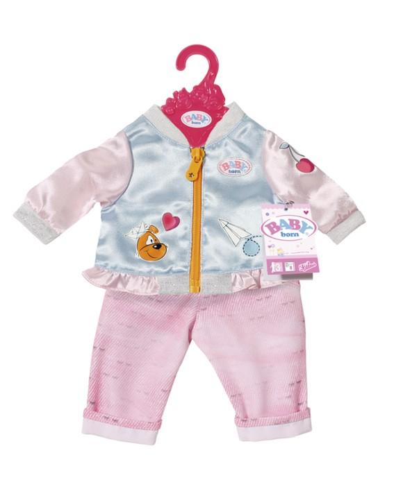 Baby Born - Casual Clothing Set - Jeans & Jacket - Blue