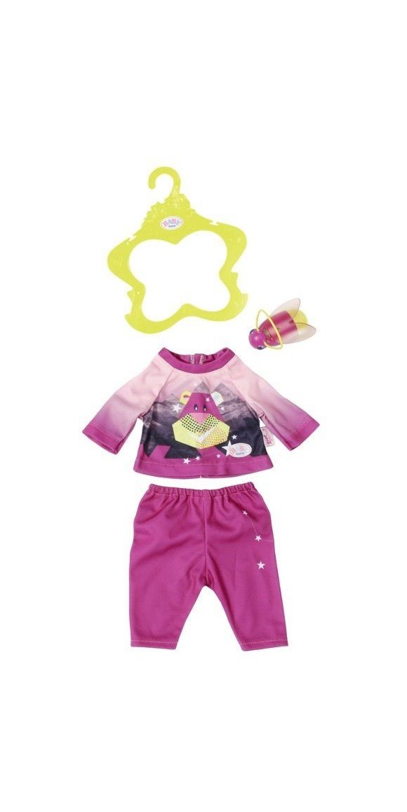 Baby Born - Play & Fun - Nightlight Outfit - Pink (824818)