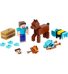 Minecraft - Comic  2-Pakke -  Steve + Diamond Armored Horse (GLC78)