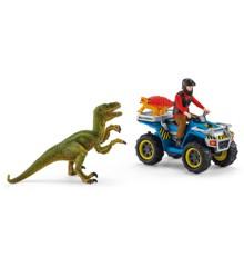 Schleich - Flugt på ATV fra Velociraptor (41466)