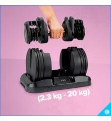 Adjustable Dumbbell Set - 2.3kg - 20kg (04965)