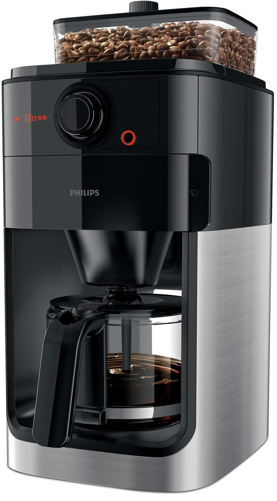 Philips - Grind & Brew Coffie Machine  HD7767/00