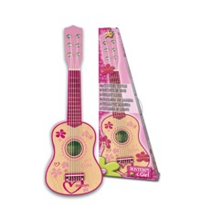 Bontempi - Small pink wooden guitar, 55 cm (225572)​