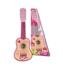 Bontempi - Vaaleanpunainen kitara puussa, 55 cm