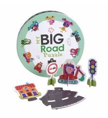 Barbo Toys - My big Road Puslespil (74 brk)