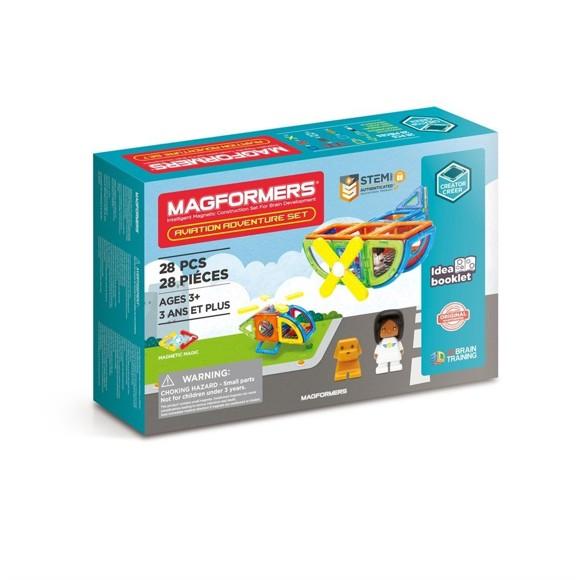 Magformers - Aviation Adventure Sett med 28 deler