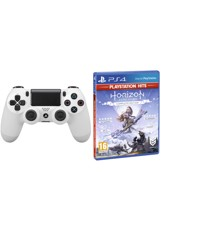 Sony Dualshock 4 Controller v2 - White + Horizon: Zero Dawn – Complete Edition (Playstation Hits) (Nordic)
