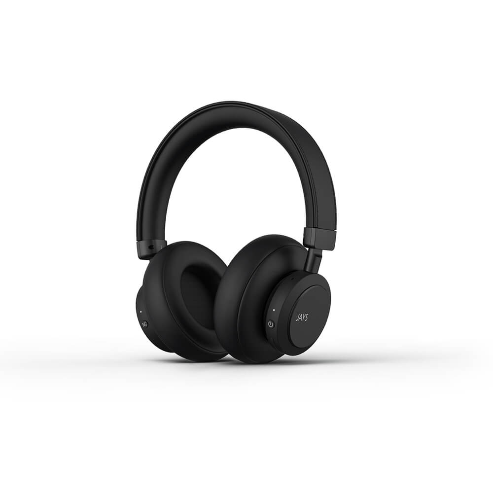 Jays - q-Seven ANC Wireless Over-Ear Headphone - Black