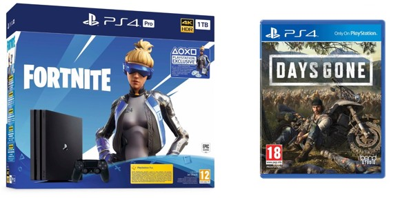 Playstation 4 Pro Console - 1 TB (Fortnite Bundle) (Nordic) + Days Gone (Nordic)