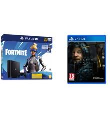Playstation 4 Pro Console - 1 TB (Fortnite Bundle) (Nordic) + Death Stranding (Fornite Code Expired) (Nordic)
