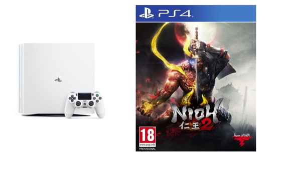 Playstation 4 Pro White Console - 1 TB (Nordic) + Nioh 2 (Nordic)
