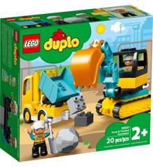 LEGO DUPLO - Lastbil og gravemaskine på larvefødder (10931)