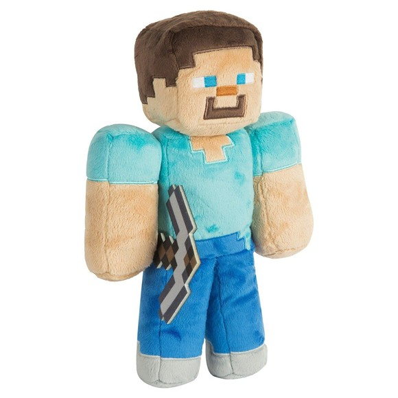 "Minecraft 12"" Steve Plush with Hang Tag"