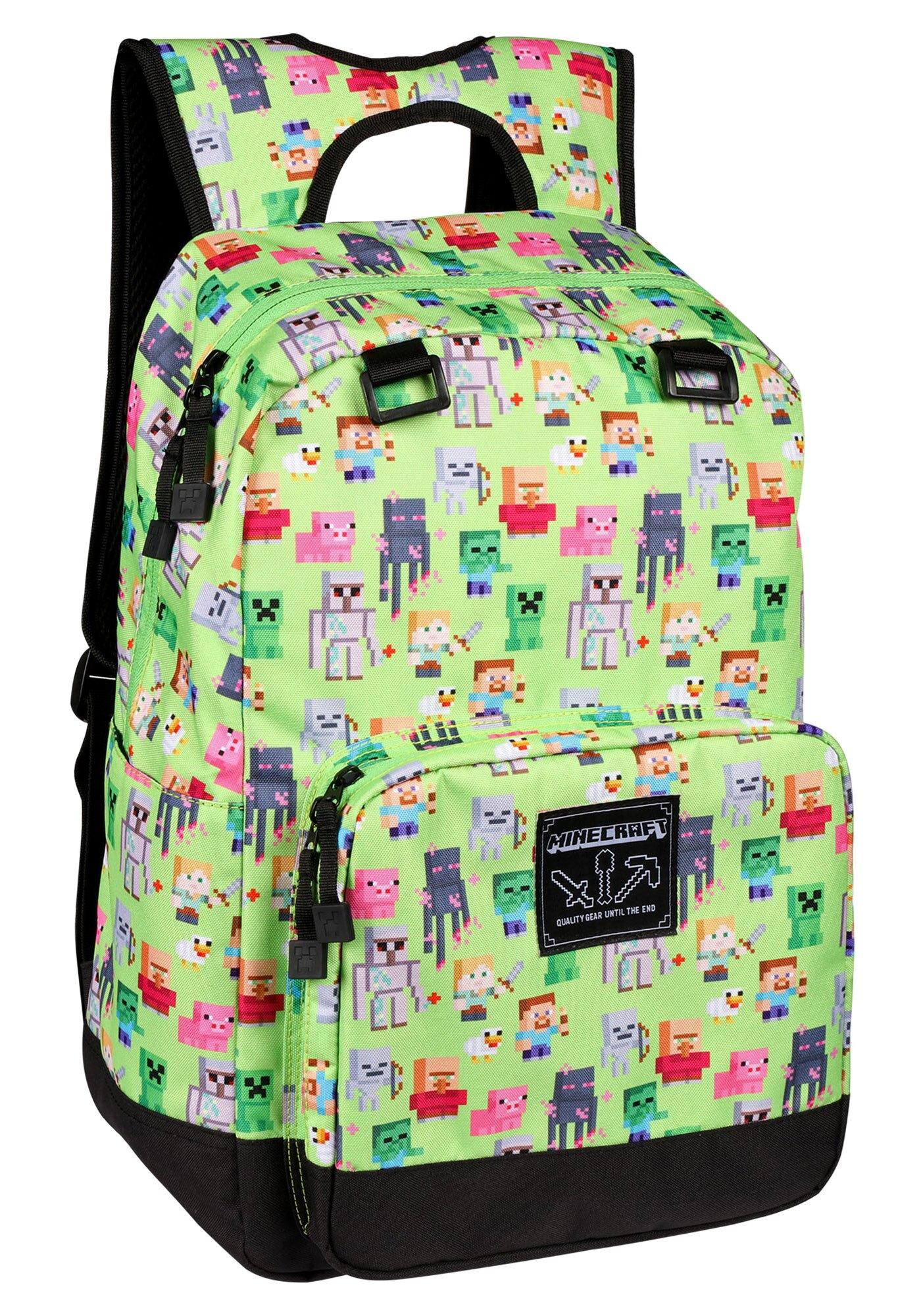 Minecraft 17 Overworld Sprites Backpack Multicolor