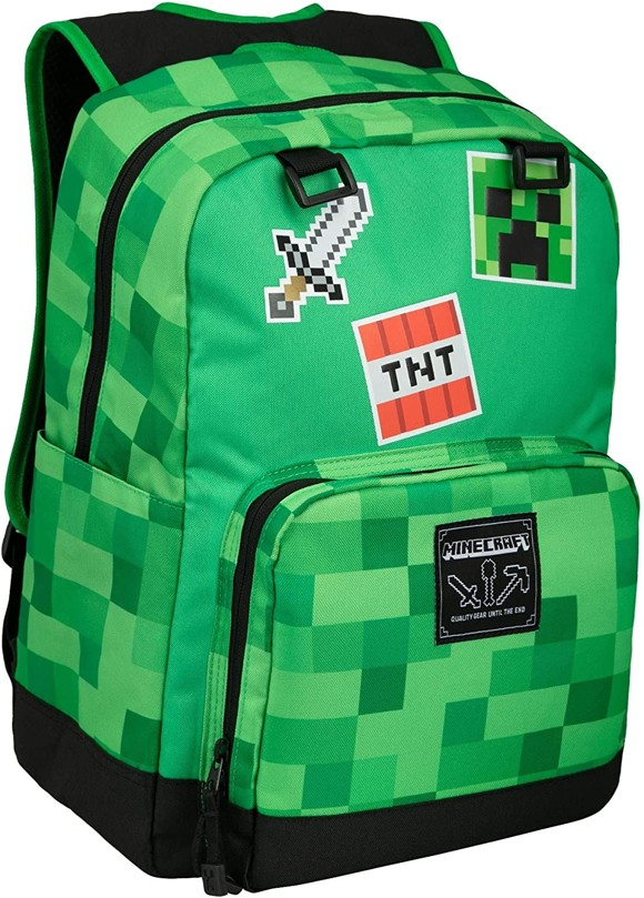 Minecraft 17 Survival Badges Backpack Green