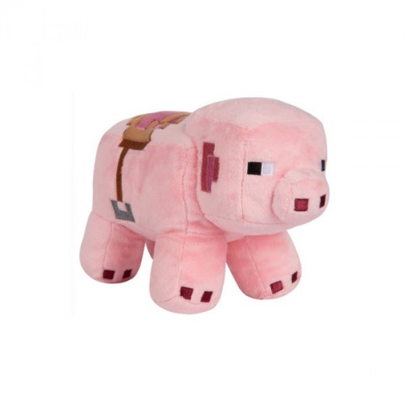 Minecraft Adventure Saddled Pig Plush Pink