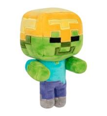 Minecraft Happy Explorer Gold Helmet Zombie Plush