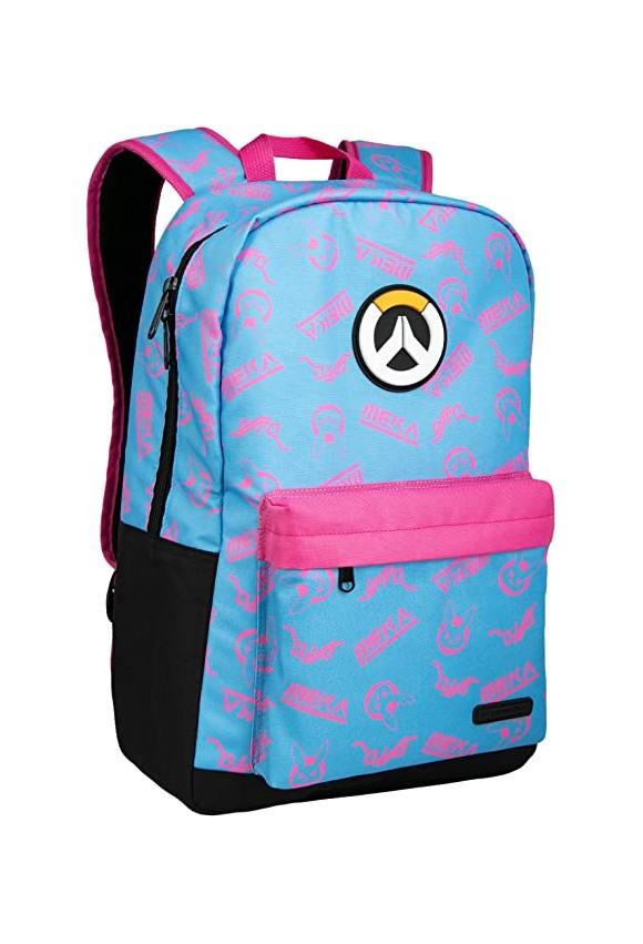 Overwatch D.VA Splash Backpack Blue/Pink