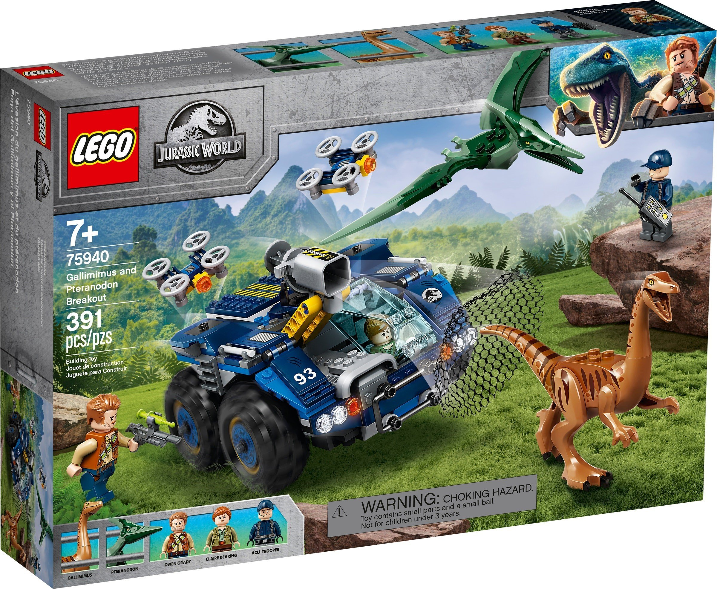LEGO Jurassic World - Gallimimus and Pteranodon Breakout (75940)