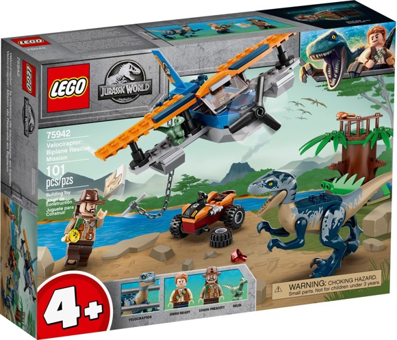 LEGO Jurassic World - Velociraptor: Biplane Rescue Mission (75942)