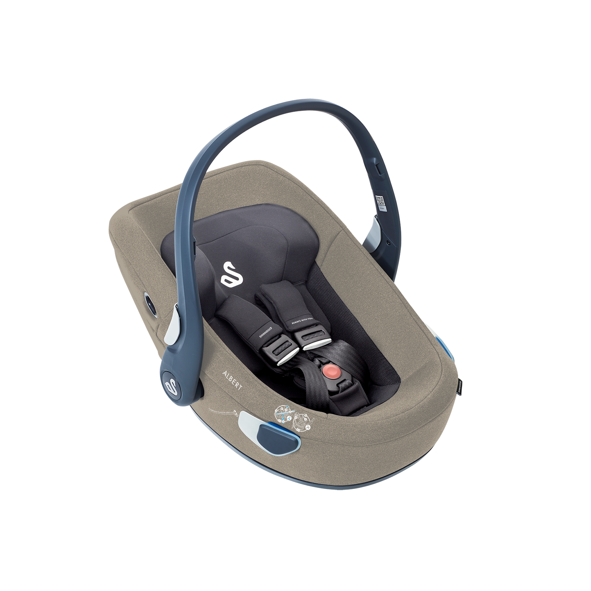 Swandoo - Baby Car Seat Albert I-Size - Alfalfa